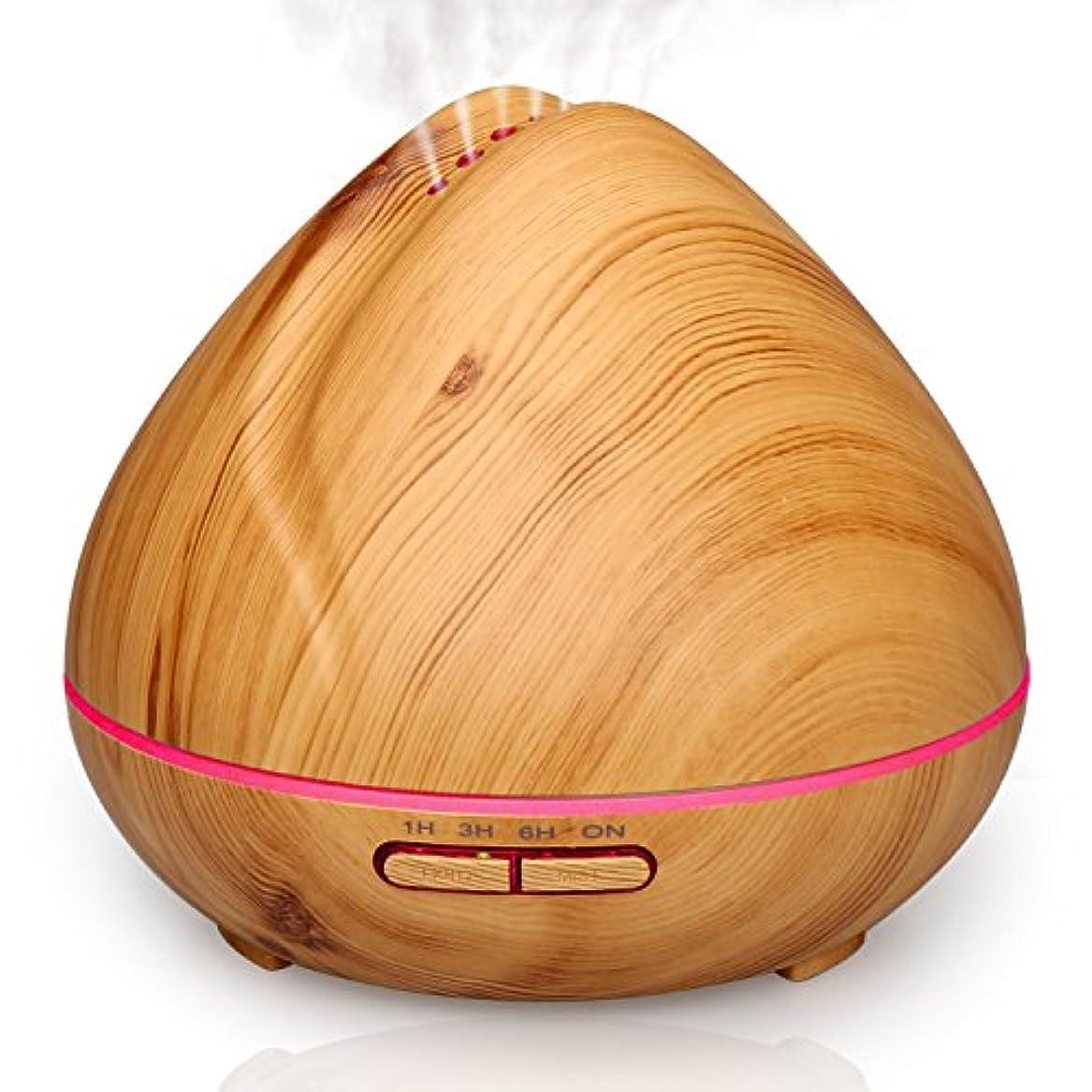 クリップ帽子普通のqkfly Essential Oil Diffuser 400 ml木目 QK-A004