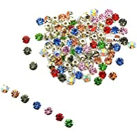 F Fityle 100Pcs Multicolor Sew On Rhinestones Beads Embellishments For DIY Jewelry Making