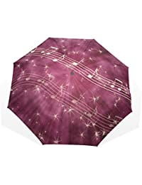 AOMOKI 折り畳み傘 折りたたみ傘 手開き 日傘 三つ折り 梅雨対策 晴雨兼用 UVカット 耐強風 8本骨 男女兼用 ミュージック 音楽 紫