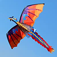 qupida新しい3d Dragon Kite With Tail凧for Adult Kites Flyingアウトドア100 M Kite Line