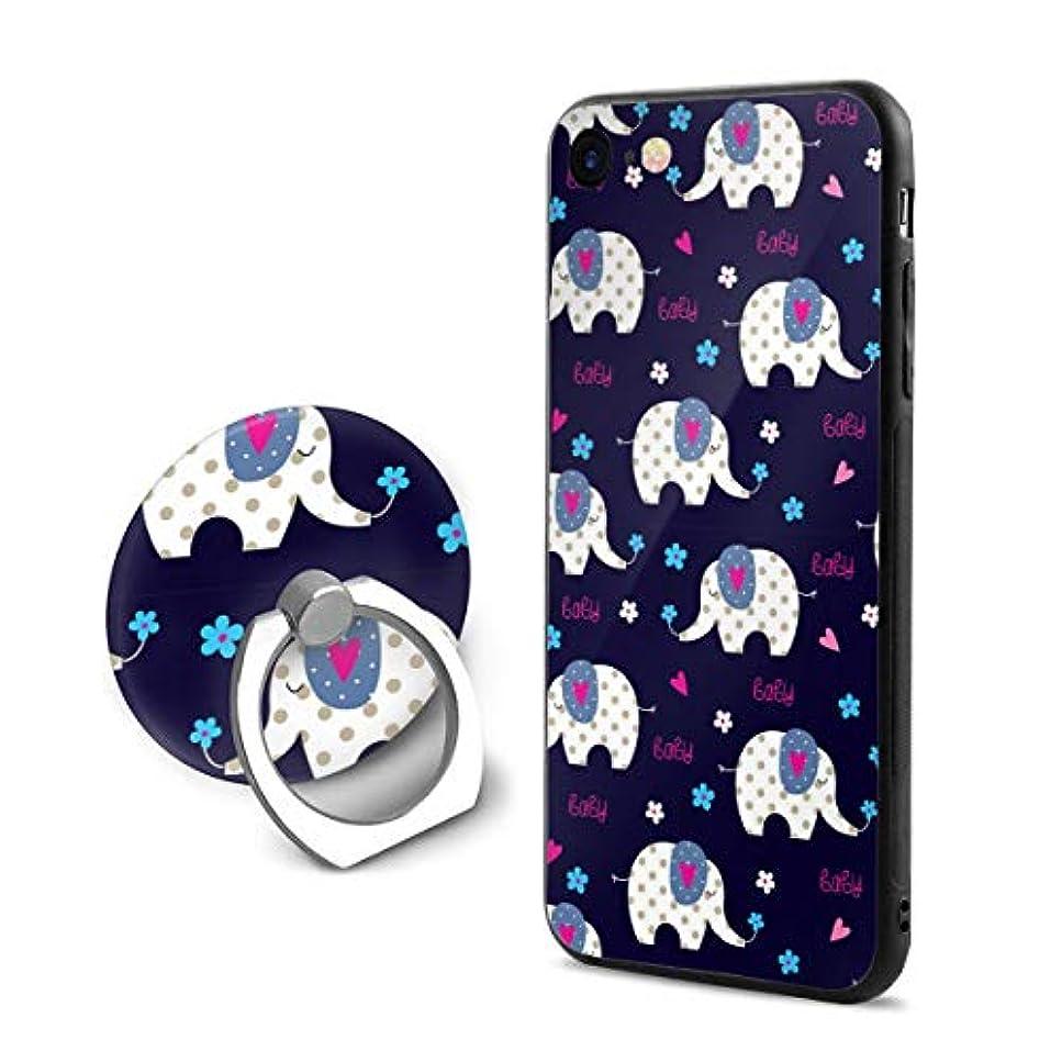 そうバケット生き返らせるかわいい象柄 ラブ Iphone6Plus ケース/Iphone6s Plus ケース Cases リング付き ソフト TPU 軽量 薄型 擦り傷防止 取り出し易い 携帯カバー 落下防止 柔らかい オシャレ 耐衝撃 ケース カバー