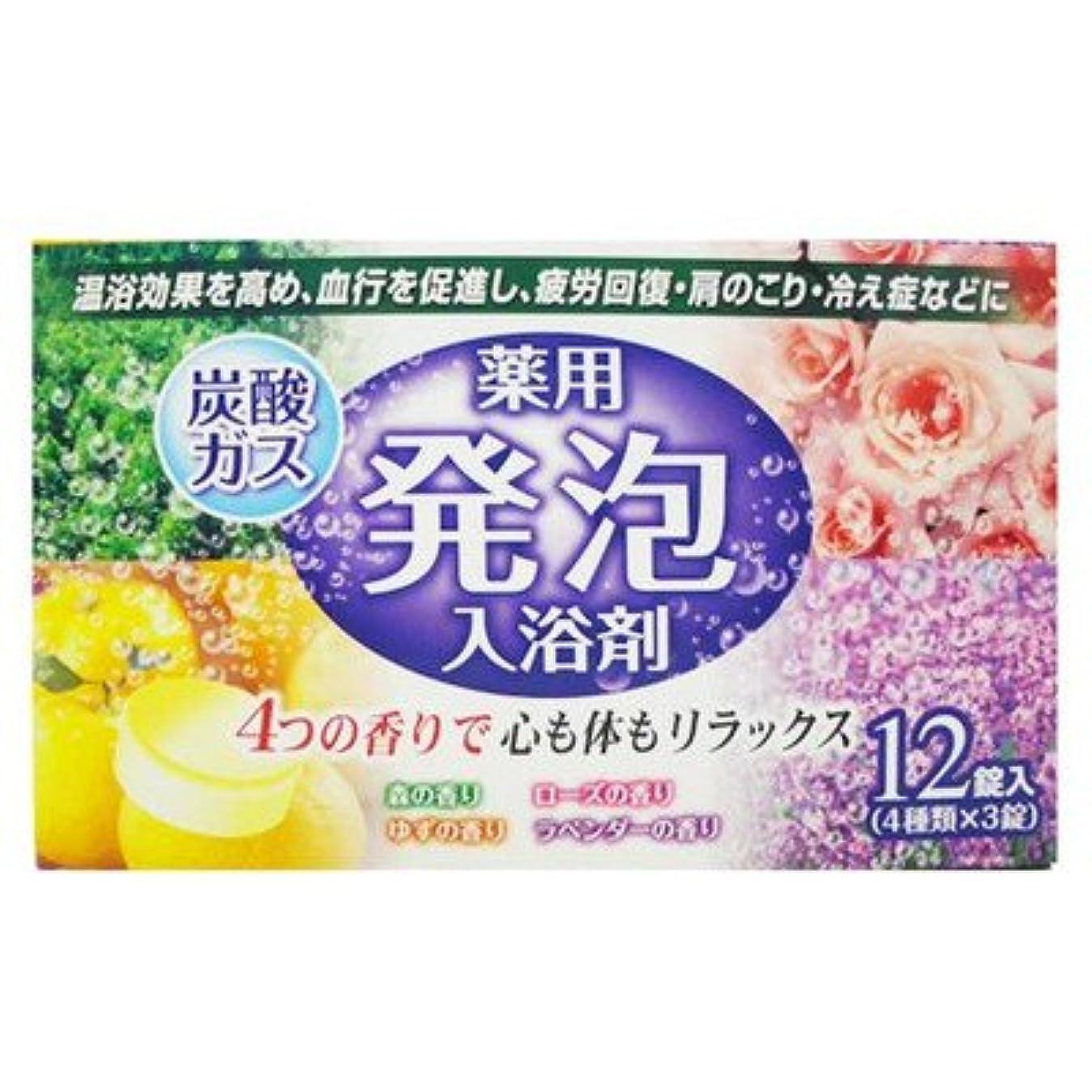一般的に言えば相互接続ファセット薬用発泡入浴剤炭酸ガス12錠入り4つの香りで心も体もリラックス(4種類×3錠) (リベロ)