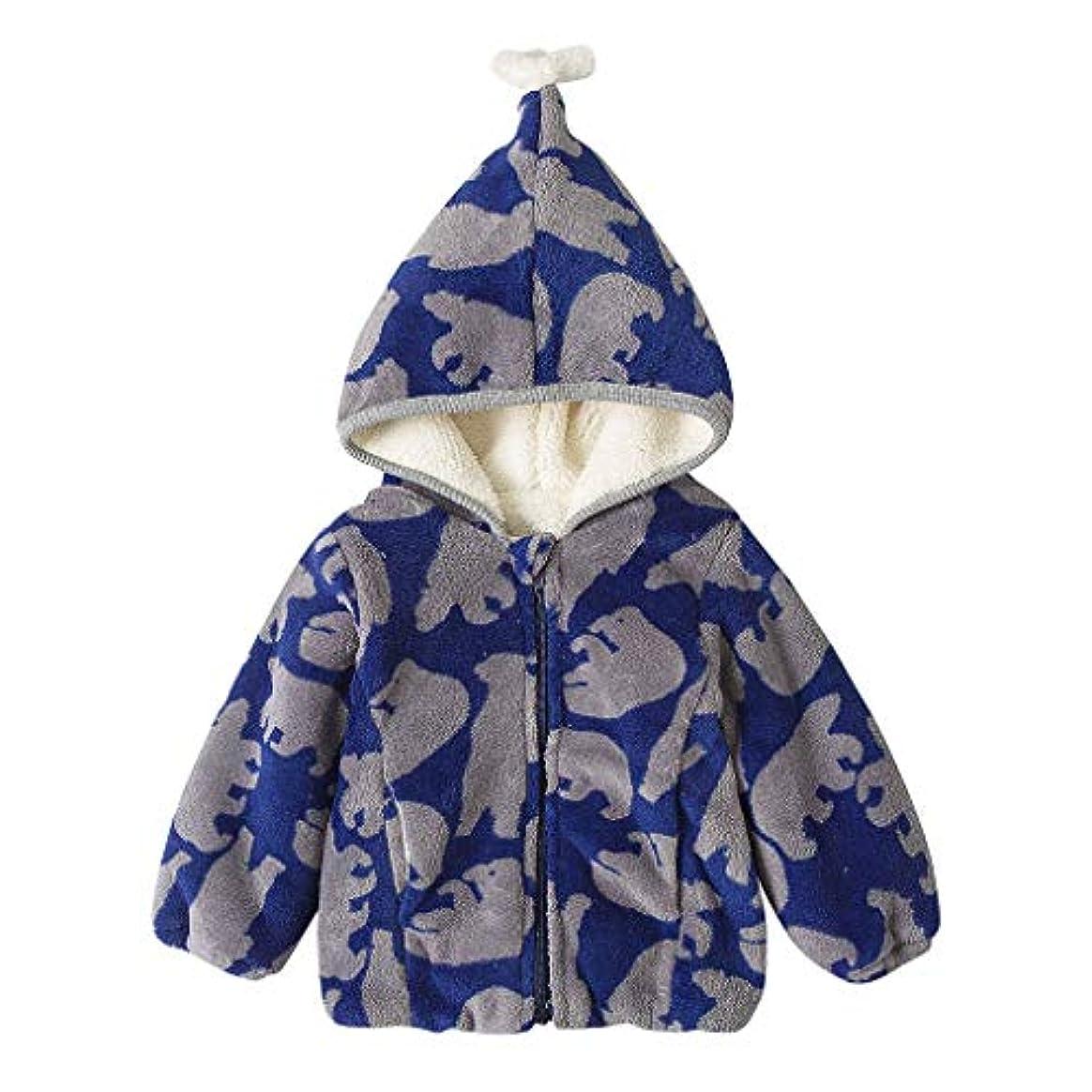 賢明な前置詞広まったかわいい柄あたたかい男の子女の子赤ちゃん冬コートジャケット子供ジップ厚いスノースーツパーカーオーバーコート屋外かわいいルースソフト快適なブラウストップス