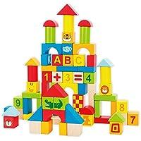 QXMEI 子供用おもちゃ 子供用ブロック 木製玩具ブロック 教育玩具 製品サイズ: 14.8 9.8 2インチ