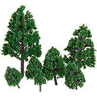Lovoski 樹木  木 モデルツリー 情景コレクション ザ ? 鉄道模型?ジオラマ?建築模型?電車模型に  3-16 cm 緑 22本セット 飾り