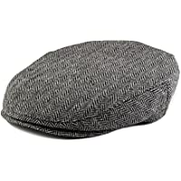 Born to Love Boy's Tweed Page Boy Flat Scally Cap Newsboy Baby Kids Driver Cap-(XS 49 cm)