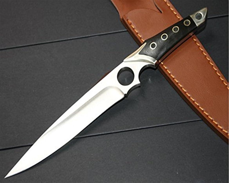 東ティモールチョコレート鋼屋外の戦術ストレートナイフ狩猟ナイフ
