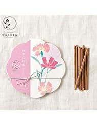 wanoka四季のお香(インセンス)撫子《撫子をイメージした可憐な香り》ART LABIncense stick
