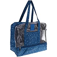 MagiDeal Swim Pool Beach Dry Wet Separation Handbag Tote Waterproof Bag with Bottom Shoes Box