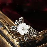 【アンティーク風】 マーカサイト シェル フラワー SV925 デザイン リング プレゼント 指輪