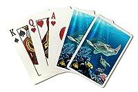 Sea Turtles水泳( Playingカードデッキ–52カードPokerサイズwithジョーカー)