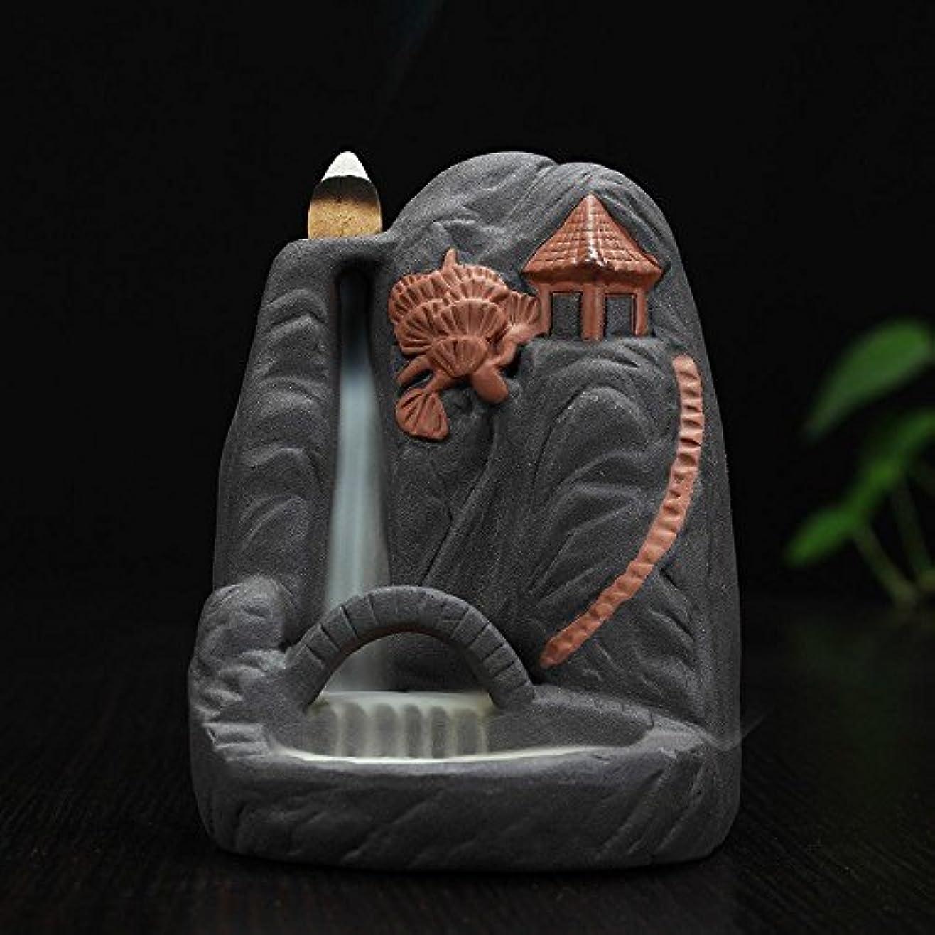 硬さ含める産地セラミック芸術品や工芸品のクリエイティブBackflow Incense Burner Incense川ホルダー – Superimposedブリッジホームオフィス装飾オーナメント