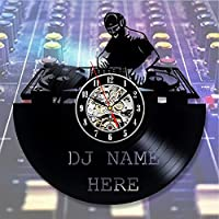 Dj Vinyl Wall Clock Art Gift Room Modern Home Record Vintage Decoration - Win a prize for feedback