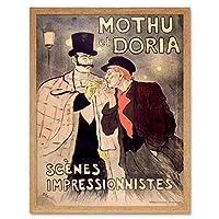 Steinlen Mothu Doria Impressionist Magazine Advert Art Print Framed Poster Wall Decor 12x16 inch 雑誌の表紙広告ポスター壁デコ