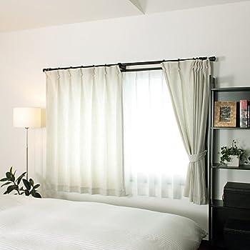 麻の風合いがさわやかな洗える形状記憶カーテン「リネン」(幅100cm×丈200cm/2枚組み)アイボリー