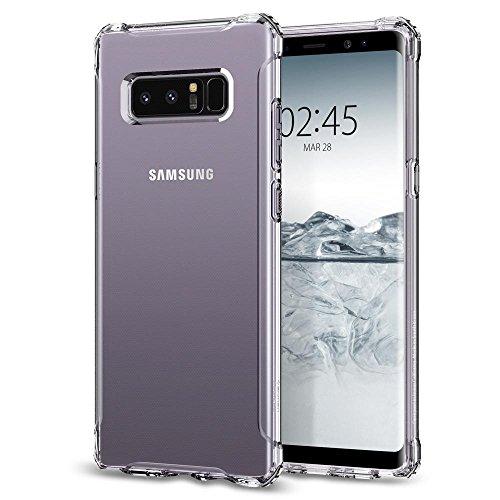 Spigen シュピゲン スマホケース Galaxy Note 8 対応 TPU 全面クリア 耐衝撃 米軍MIL規格取得 ラギッド・クリスタル 587CS22062 (クリスタル・クリア)