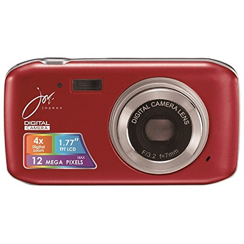 デジタルカメラ 12 MEGA PIXELS レッド JOY50SR ジョワイユ