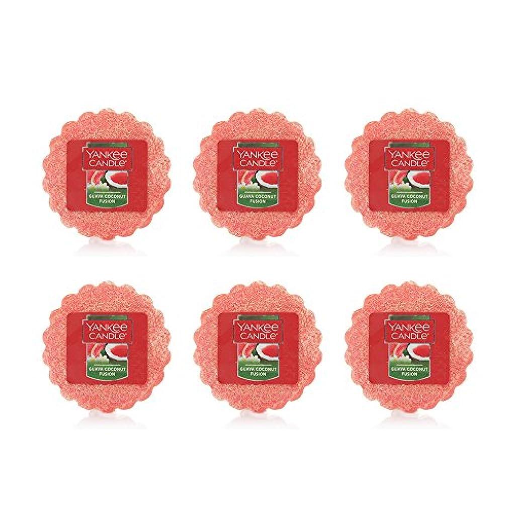 合理的北方債務Yankee Candle Lot of 6 Guava Coconut Fusion TartsワックスMelts