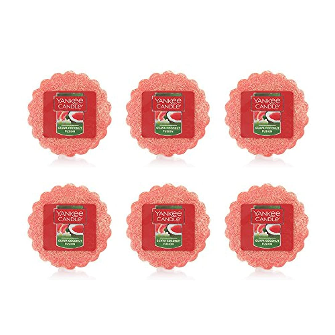 ストローク変色するドライYankee Candle Lot of 6 Guava Coconut Fusion TartsワックスMelts