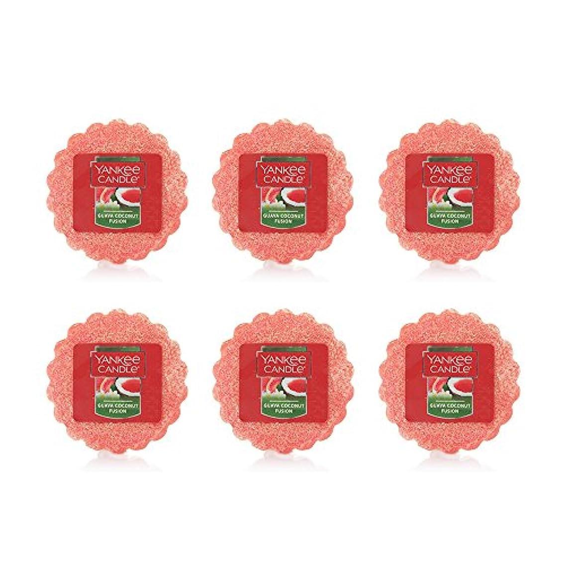 欠点つづり解凍する、雪解け、霜解けYankee Candle Lot of 6 Guava Coconut Fusion TartsワックスMelts