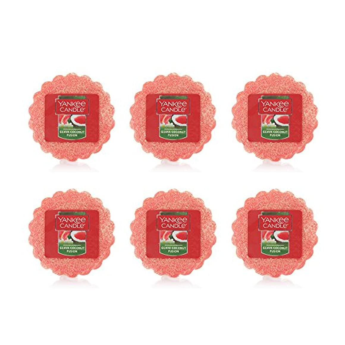言う気付く石化するYankee Candle Lot of 6 Guava Coconut Fusion TartsワックスMelts