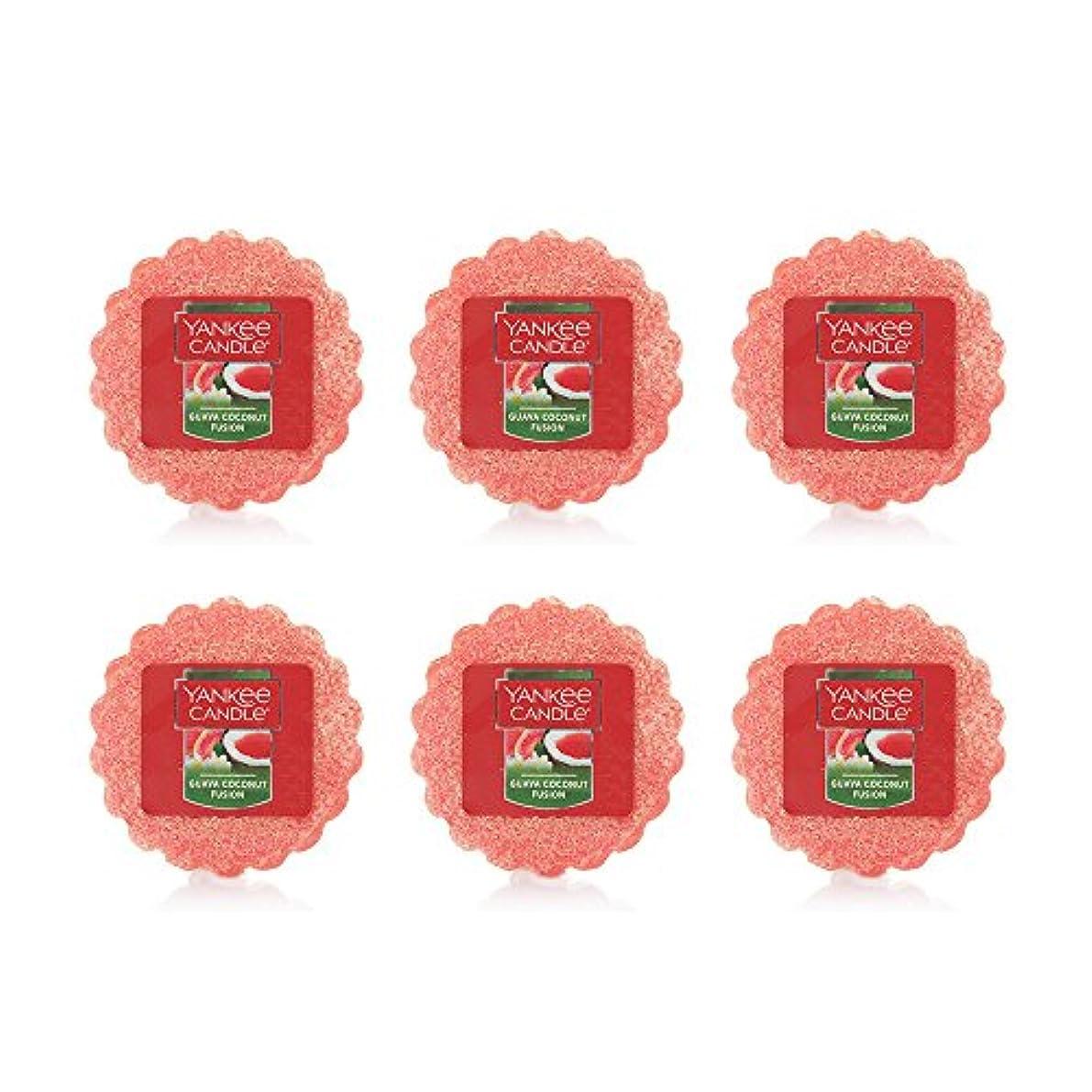 特異な伝導花束Yankee Candle Lot of 6 Guava Coconut Fusion TartsワックスMelts