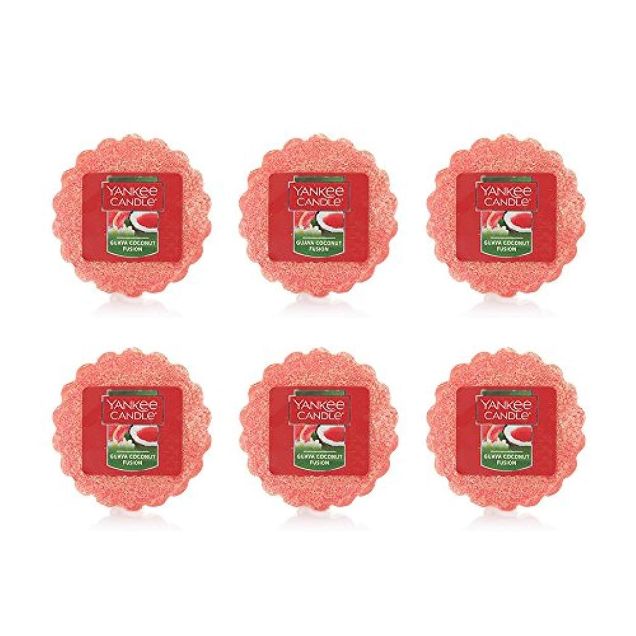 あたたかい切るケイ素Yankee Candle Lot of 6 Guava Coconut Fusion TartsワックスMelts