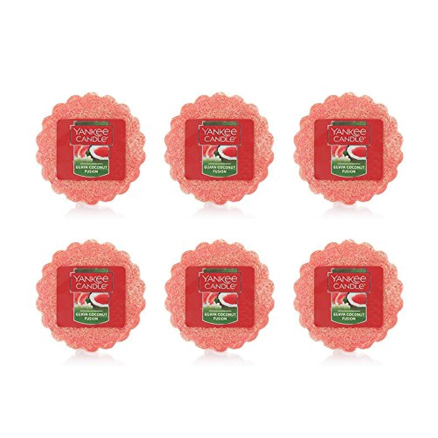 ドロー梨遺体安置所Yankee Candle Lot of 6 Guava Coconut Fusion TartsワックスMelts
