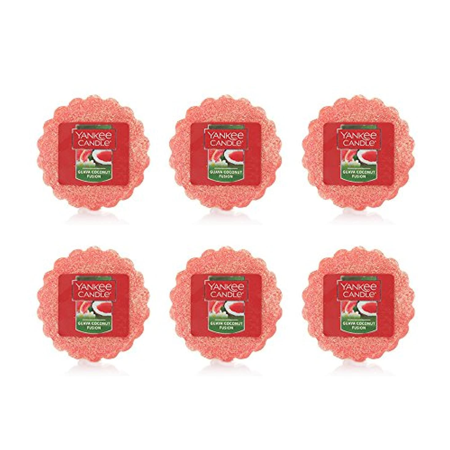 不振保存怠感Yankee Candle Lot of 6 Guava Coconut Fusion TartsワックスMelts