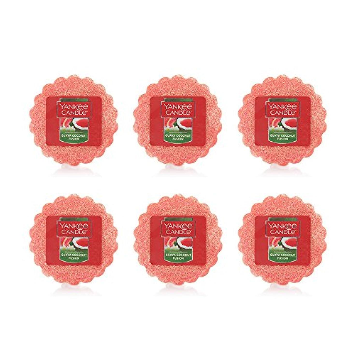 構築するラグ印象派Yankee Candle Lot of 6 Guava Coconut Fusion TartsワックスMelts