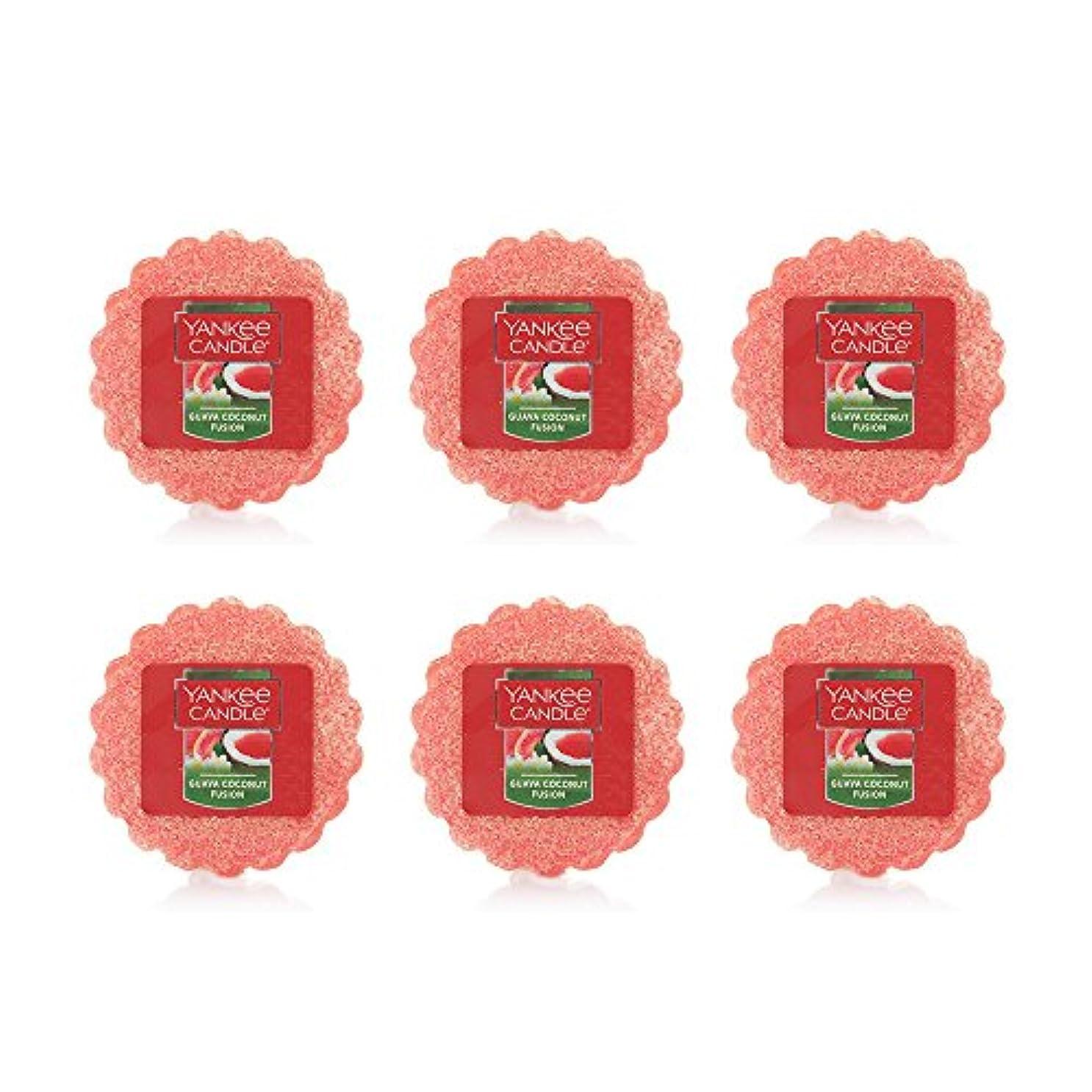 にもかかわらず業界の量Yankee Candle Lot of 6 Guava Coconut Fusion TartsワックスMelts