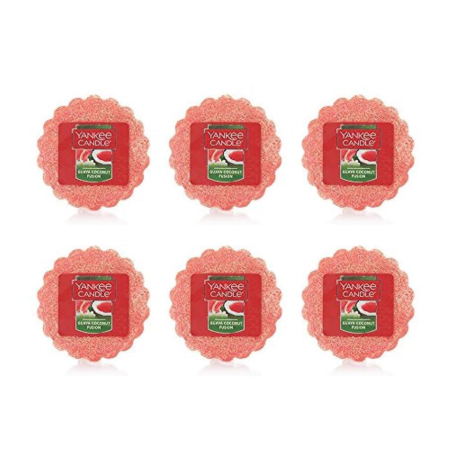 救い無人熟達Yankee Candle Lot of 6 Guava Coconut Fusion TartsワックスMelts