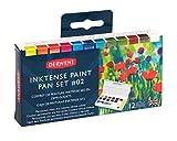 ダーウェント インクテンス 12色 ペイントパン #2 2305789 /水彩画/ペイント/布や木目に着色可能/乾くと耐水性/重ね塗り