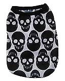 Amazon.co.jpふく福 可愛い 小中型犬服 Tシャツ ドッグウェア 犬散歩ウェアお出かけウェアに 春夏服- 黒 スカル スタイル (S)