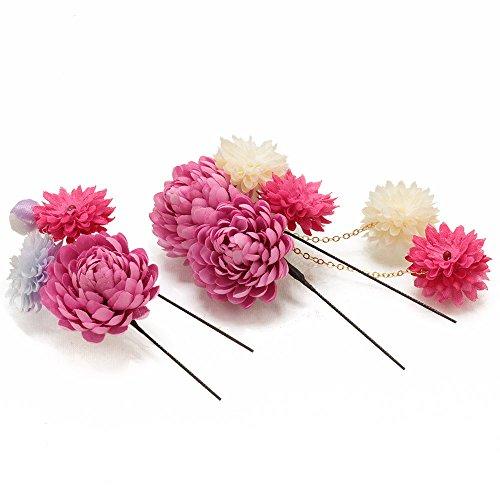 (キステ)Kisste フラワー髪飾り 花づくし *ピンク* 髪かざり 7-8-00539