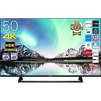 ハイセンス 50V型 4Kチューナー内蔵液晶テレビ NEOエンジン搭載 HDR対応 -外付けHDD録画対応(W裏番組録画)/メーカー3年保証50E6800