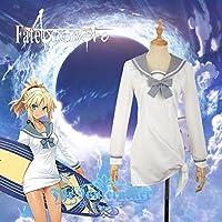 「ノーブランド品」Fate/Grand Order モードレッド Mordred コスプレ衣装 セーラー服 髪飾り付