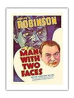 """""""The Man with Two Faces"""" - Edward G. Robinson & Mary Astor - 監督 Archie Mayo - ビンテージなフィルム映画のポスター c.1934 -プレミアム290gsmジークレーアートプリント - 46cm x 61cm"""