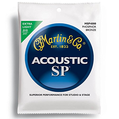 MARTIN MSP4000 92/8 Phosphor Bronze Extra Light アコースティックギター弦×10SET