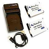 【 6ヶ月保証 】 Nikon ニコン EN-EL12 [ バッテリー2個 + USB充電器 ] Coolpix A900 S9900 S9700 S9500 S9400 ... 互換 バッテリー 充電器 Nucleus Power製(EN-EL12*2+充電器)