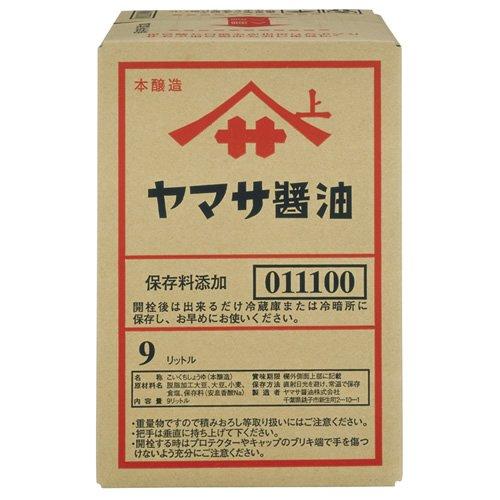 ヤマサ 醤油 角缶 9L