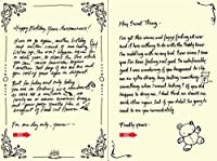 Quiplip Handwritten Yours Truly Birthday Cards 6-Pack (YT02156PCK) [並行輸入品]