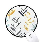 蕾の花の植物塗料 ラウンド・ノンスリップ・マウスパッド・ブラックtitched端ゲームオフィス贈り物