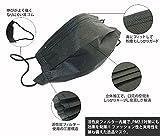 ブラック 黒 マスク 使い捨て 男女兼用 活性炭入り 三層 pm2.5 風邪 インフルエンザ 対策 ファッション 50枚 セット