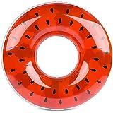 浮き輪 大人用 直径80cm 可愛い スイカ プール 海 (xi-gua34)