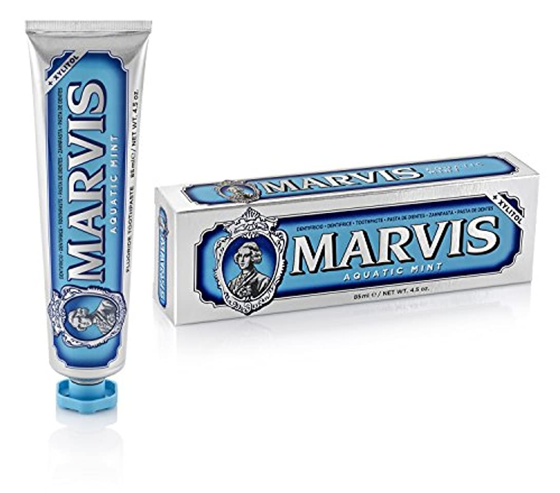 パテ実際の突然マーヴィス Aquatic Mint Toothpaste With Xylitol 85ml/4.5oz並行輸入品