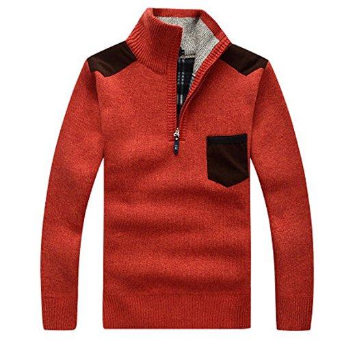 FOMANSH ニット メンズ ハーフジップ セーター ニットセーター スリム 大きいサイズ カジュアル 無地 長袖 春秋