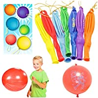 DECORA 12 Punch Balloons with Rubber Band Handles Assorted Colors 50pcs [並行輸入品]