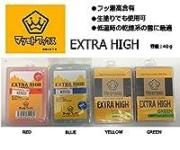 【マツモトワックス】EXTRA HIGH エクストラハイ スノーボード フッ素ワックス・固形/滑走ワックス RED