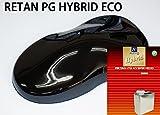 コスト削減に!レタンPG ハイブリッド エコ #400 ディープ ブラック 1kgセット(シンナー付)/自動車用 1液 ウレタン 塗料 関西ペイント ハイブリット 黒